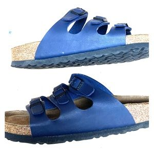 Navy Florida Birkenstock sandals size 9